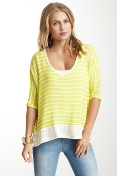 Love this V-Neck Boxy Top on HauteLook.  So comfy.