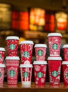 There Are 13 Different Starbucks Holiday Cups Dropping Tomorrow #refinery29  http://www.refinery29.com/2016/11/129349/all-starbucks-winter-red-cups-designs