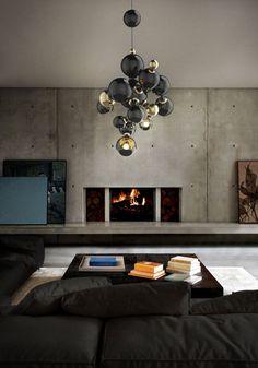 Atomic chandelier by @Elena Cabatu Unique Lamps http://www.delightfull.eu/en/heritage/suspension/atomic-chandelier.php IDCDesigners, HPMKT, furniture ,interiordesign, homedecor, customfurniture, homefurniture, designerfurniture