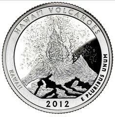 2012 Hawaii Volcanoes National Park Quarters Roll coin tube D