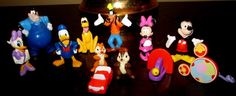 NEW Mickey Mouse Clubhouse Playset Book  Toy Figures Cake Cupcake Toppers Decorations  Birthday Party Supplies on Etsy, $21.99