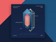 Diamond Geometry  by Zaib Ali #Design Popular #Dribbble #shots