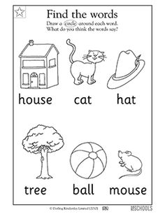 Free printable Preschool Worksheets, word lists and activities. | GreatSchools