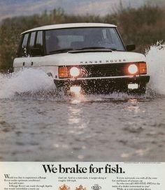 Range Rover classic advertisement