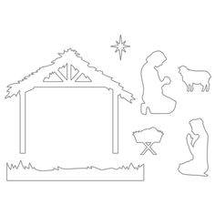 me ~ Holy Nativity Die Set Christmas Art For Kids, Christmas Manger, Christmas Wood Crafts, Christmas Nativity Scene, Christmas Signs Wood, Outdoor Christmas Decorations, Christmas Projects, Christmas Wreaths, Christmas Crafts