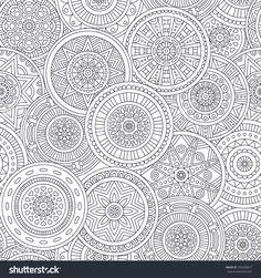 Seamless Pattern. Vintage Decorative Elements. Hand Drawn Background. Islam, Arabic, Indian, Ottoman Motifs. Stock Vector Illustration 355390877 : Shutterstock