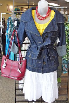 Spring fashion looks good at our Clothes Mentor women's clothing resale store in Highland Village, TX
