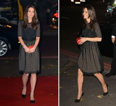 Kate Middleton attended the SportsAid gala this evening. She wore Temperley London's Templeton dress. - 11/28/2013