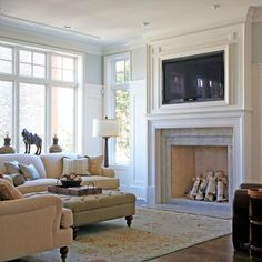 Another example Tv Over Fireplace Design Ideas, Pictures, Remodel, and Decor