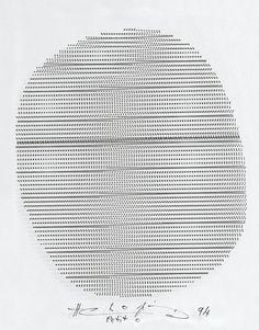 """Henri Chopin, """"Petit 0"""", 1994, Fondazione Bonotto"""
