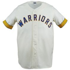 "History: Danville was a ""co-op"" franchise in 1970 (not affiliate with any one MLB team) but oddly seemed to use uniforms handed down from the recently-deceased Seattle Pilots. Third-baseman Walter Ramsom led the Midwest League in runs scored, with 91. Product Details: - Made in the USA - Midwest League - Authentic reproduction of the jersey worn in 1970 by the Danville Warriors - Authentic vintage white wool flannel - Raglan sleeve - Button front - Special gold and royal trim on sleeves…"