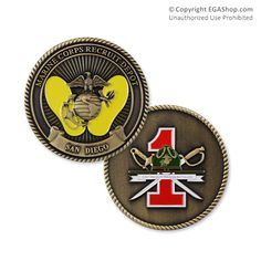 Coin, 1st Battalion, San Diego Marine Mom, Marine Corps, Usmc, Marines, Challenge Coins, Armed Forces, Boot Camp, San Diego, Military