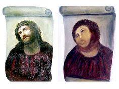 """Las dos restauradoras que analizaron el """"Ecce Homo"""" de la iglesia del santuario de Nuestra Señora de la Misericordia de Borja (noreste de España), """"destrozado"""" por una anciana, se han mostrado confiadas en recuperar la pintura."""