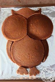 http://progresslightingparts.com  DIY Owl Cake made from Round Cake Pans. for-the-house-family-yummy-food #home #lighting #decor #interiordesign
