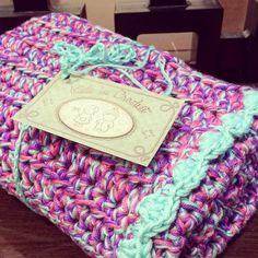 Finished and ready to snuggle a brand new baby girl  #crochet #kidsincrochet #babycrochet #crochetblanket by kidsincrochet