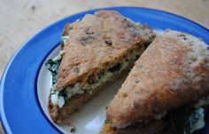 Spinach, Egg-white and Feta toasted sandwich