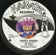 THE PEELS Juanita Banana NOVELTY GROUP GARAGE ROCK  45 RPM PROMO WLP RECORD NM-