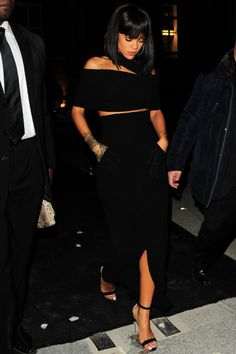 "thephoenixlady:  theedjcagedbird:  piercingsnipplesndimples:   Rihanna leaving ""Porter"" magazine party in Paris   My wife  This ensemble tho…  Thank God she's covered up, looks so classy"