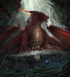 """Red Dragon - alternative art"" by Timi Honkanen Dragon Rpg, Fire Dragon, Fantasy Creatures, Mythical Creatures, Legendary Dragons, Beautiful Dragon, Dragon Artwork, Dragon Pictures, Alternative Art"