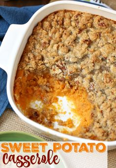 This Easy Sweet Potato Casserole is a must-make for Thanksgiving and Christmas. It is super simple, super yummy and it can be made in advance!