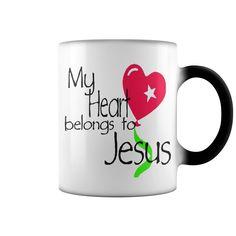 My heart belongs to jesus color changing mug - Tshirt