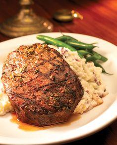 Flat Iron Steak at Baker St. Pub & Grill