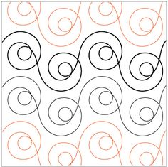 Free Motion Quilting Curly cues