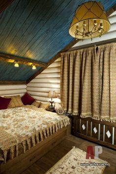 Фото интерьера спальни | Дизайн интерьера дом из цельных бревен в стиле французского шале | #Interior #design #house of whole logs style French chalet