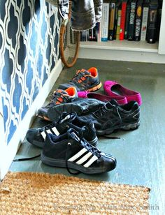 How I Solved Our Entryway Shoe-Pile Problem for 29 Cents