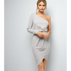 Une robe asymétrique grise New Look, / Grey Asymetrical Dress, New Look Club Dresses, Fall Dresses, Elegant Dresses, Casual Dresses For Women, Formal Dresses, Fall Wedding Outfits, Trendy Wedding, Women's Evening Dresses, Classy Dress
