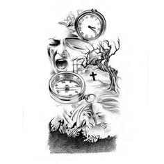 Trees and Clocks Tattoo