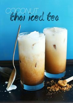 Vegan Thai Iced Tea - Made with black tea, vanilla, natural sweeteners, and creamy coconut milk!