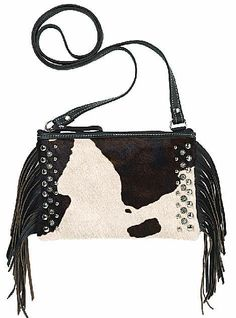 American West Leather Chaps Collection Zippered Crossbody Pouch