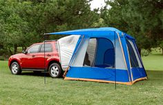 The kids could sleep on air matress in the back and the parents in the tent. I want this!!!