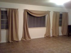DIY Burlap Curtains - Use same concept with other fabrics maybe? Certainly need to apply to our home!