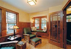 Interior from 1928 Sears kit bungalow home, remodeled