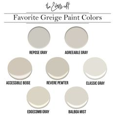 Why Greige Might Be Your New Best Friend – The Evans Edit My Favorite Griege paint colors: Sherwin Williams Repose Gray, Sherwin Williams, Agreeable Gray, Sherwin Williams Accessible Beige, Benjamin M Griege Paint Colors, Room Paint Colors, Paint Colors For Home, House Colors, Best Greige Paint Color, Gray Wall Colors, Best Neutral Paint Colors, Sherwin Williams Repose Gray, Greige Sherwin Williams