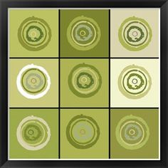 Le Concentric Sage Color Celery Green White Greens Artist Ricki Mountain