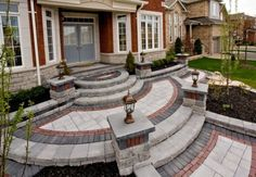 Front entrance by Unilock with Umbriano paver and steps