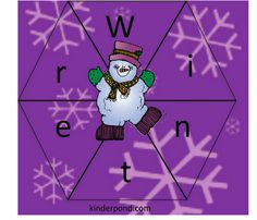 Winter Spin a Word by Kinderpond - - Pinned by @PediaStaff – Please visit http://ht.ly/63sNt for all (hundreds of) our pediatric therapy pins