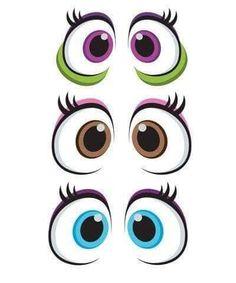 Eye Stickers, Cartoon Eyes, Elves And Fairies, Clay Pot Crafts, Eye Painting, Cute Eyes, Learn Art, Doll Eyes, Face Design