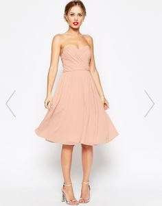 Find the best selection of ASOS WEDDING Chiffon Bandeau Midi Dress. Shop today with free delivery and returns (Ts&Cs apply) with ASOS! Pink Midi Dress, Tulle Dress, Strapless Dress Formal, Dress Up, Formal Dresses, Wedding Robe, Asos Wedding, Beautiful Bridesmaid Dresses, Wedding Dresses