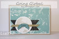 LizDesign Stampin Up Going Global Card