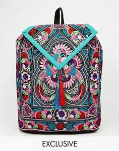 6c72dda722 Reclaimed Vintage Embroidery Backpack in Swirl and Floral Print Backpacks  For Teens School