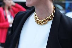 A gold necklace makes everything and everyone look good.
