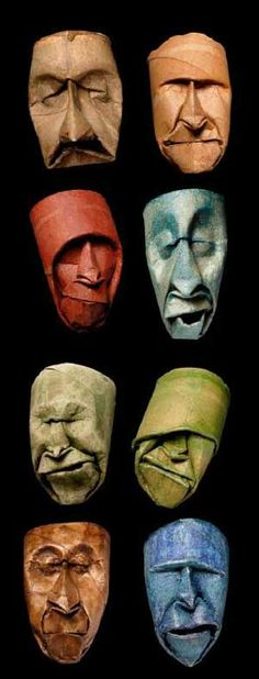 Mind-blowing Masks out of Toilet Paper: http://upcyclingit.com/upcycled-toilet-paper-spool-masks