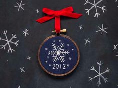 Snowflake Ornament (Free Hand Embroidery Pattern)