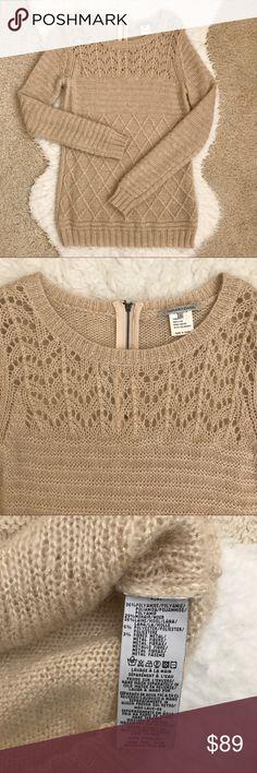 """Gerard Darel Beige Sweater Gerard Darel Beige Sweater. Warm and elegant sweater. 26% wool. Size 1 equals XS. From shoulder to hemline is 28.5"""". Gerard Darel Sweaters Crew & Scoop Necks"""