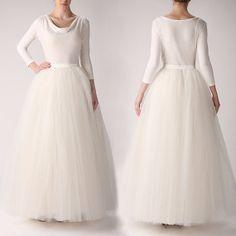 Custom made maxi tutu tulle skirt,full length tulle skirt,formal wedding gown,poofy tulle skirt,wedding petticoat.