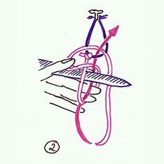 Via Nostra - Scriptorium - Netzen oder Filetknüpfen Net Making, Lace Making, Needle Lace, Bobbin Lace, Crochet Borders, Color Theory, Vintage Sewing, Quilling, Tatting